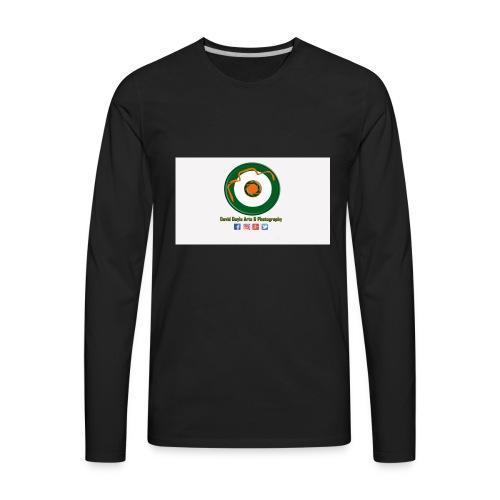 David Doyle Arts & Photography Logo - Men's Premium Long Sleeve T-Shirt