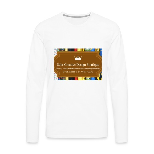 Debs Creative Design Boutique with site - Men's Premium Long Sleeve T-Shirt