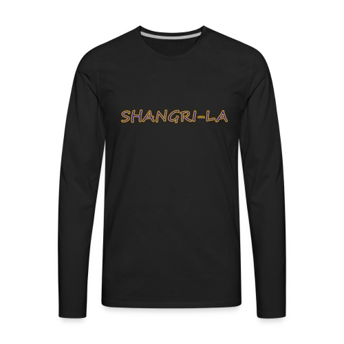 Shangri La gold blue - Men's Premium Long Sleeve T-Shirt