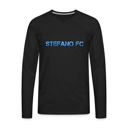Blue Stefano FC Text - Men's Premium Long Sleeve T-Shirt