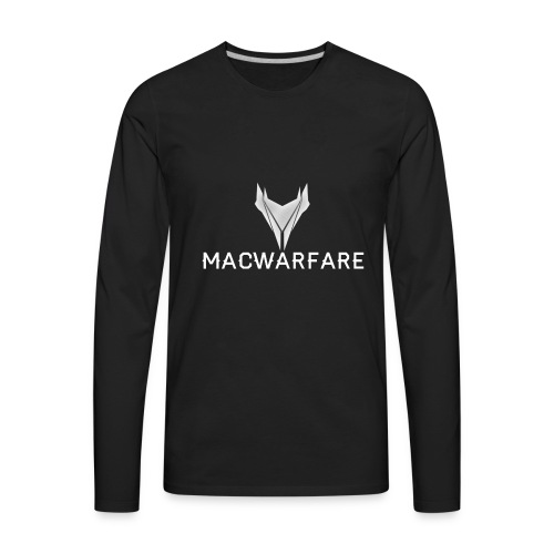 MacWarfare Channel Logo - Men's Premium Long Sleeve T-Shirt