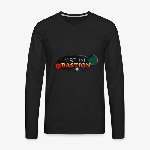 Virtual Bastion: Space Logo - Men's Premium Long Sleeve T-Shirt