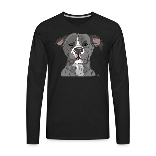 AmericanWoof - art by lloganbear - Men's Premium Long Sleeve T-Shirt