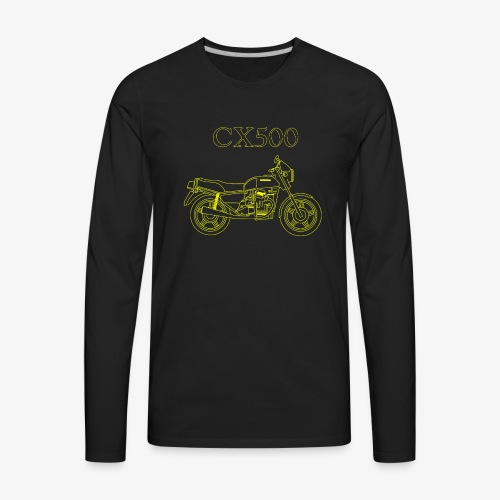 CX500 line drawing - Men's Premium Long Sleeve T-Shirt