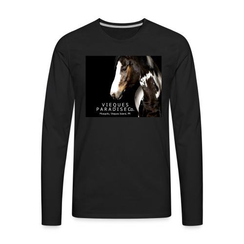 vieques island paradise horse poster - Men's Premium Long Sleeve T-Shirt