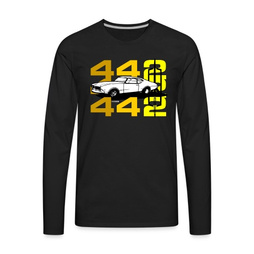 auto_oldsmobile_442_002a - Men's Premium Long Sleeve T-Shirt