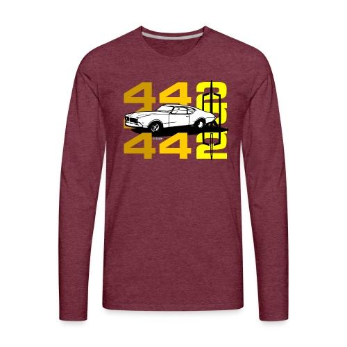 auto_oldsmobile_442_002a - Men's Premium Long Sleeve T-Shirt