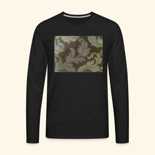 Swirling leaves white and grey style. - Men's Premium Long Sleeve T-Shirt