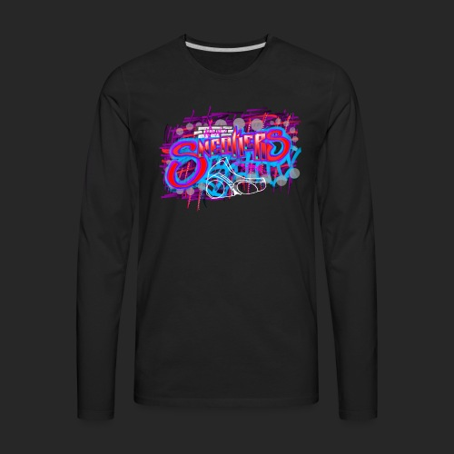 Sneakers Graffiti Design - Men's Premium Long Sleeve T-Shirt