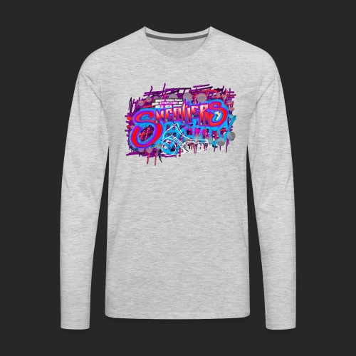 Sneakers Graffiti Design - Men's Premium Long Sleeve T-Shirt