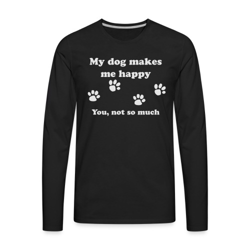 dog_happy - Men's Premium Long Sleeve T-Shirt