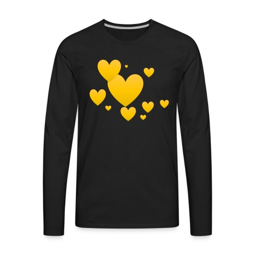 Yellow hearts - Men's Premium Long Sleeve T-Shirt