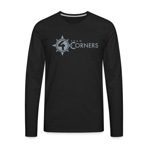 Team 4 Corners 2018 logo - Men's Premium Long Sleeve T-Shirt