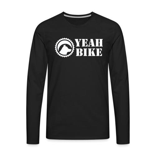 Yeah Bike white - Men's Premium Long Sleeve T-Shirt