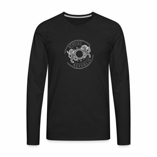 Atheist Republic Logo - Starred Stamp - Men's Premium Long Sleeve T-Shirt