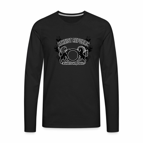 Atheist Republic Logo - Shooting Stars - Men's Premium Long Sleeve T-Shirt