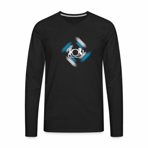 Atheist Republic Logo - Blue & White Stripes - Men's Premium Long Sleeve T-Shirt