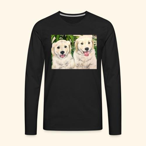 Golden Pups by Kelli Starkey @LACreationsLLC - Men's Premium Long Sleeve T-Shirt