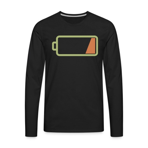 Silicon Valley - Low Battery - Men's Premium Long Sleeve T-Shirt