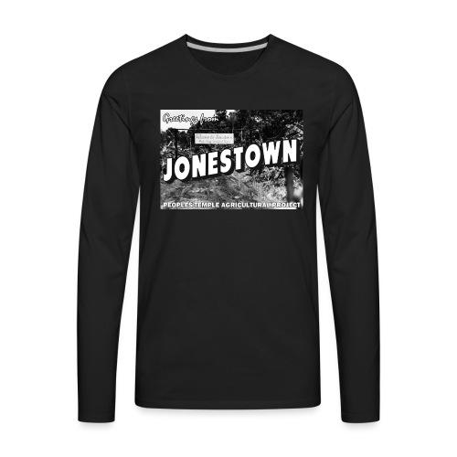 Jonestown Postcard - Men's Premium Long Sleeve T-Shirt