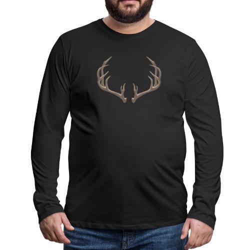 Antlers Illustration - Men's Premium Long Sleeve T-Shirt