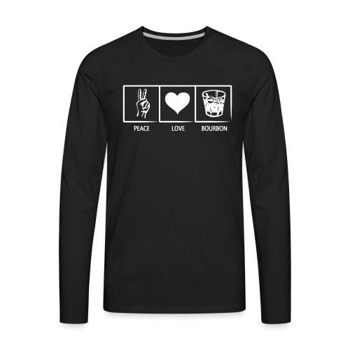 Peace, Love, Bourbon - Men's Premium Long Sleeve T-Shirt