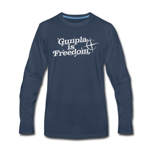 Freedom Men's T-shirt — Banshee Black - Men's Premium Long Sleeve T-Shirt