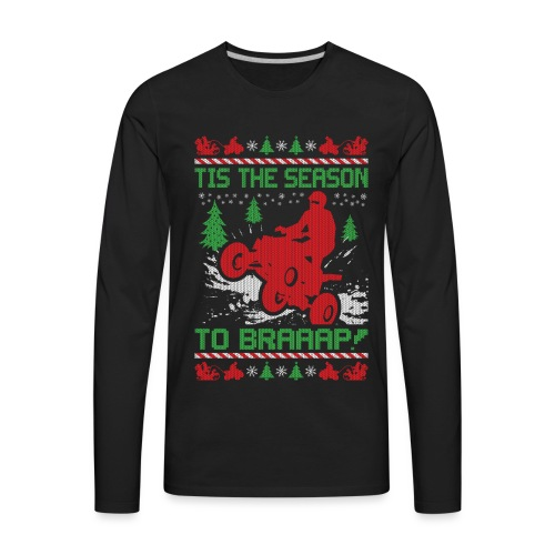 ATV Quad Christmas - Men's Premium Long Sleeve T-Shirt