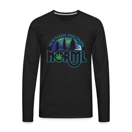 Northern Wisconsin NORML Official Logo - Men's Premium Long Sleeve T-Shirt