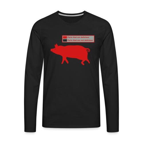 Bacon Pig Pork BBQ - Men's Premium Long Sleeve T-Shirt