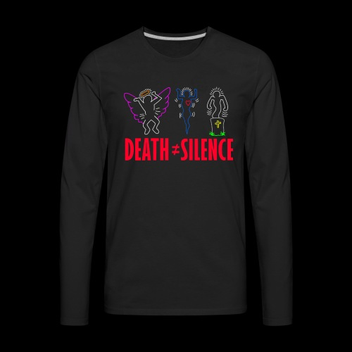 Death Does Not Equal Silence - Men's Premium Long Sleeve T-Shirt