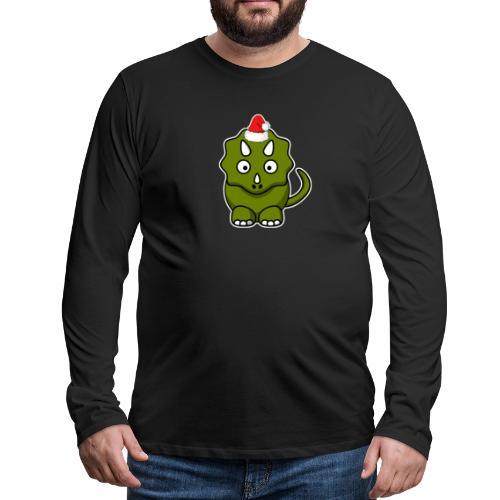Happy Holidays Triceratops - Men's Premium Long Sleeve T-Shirt