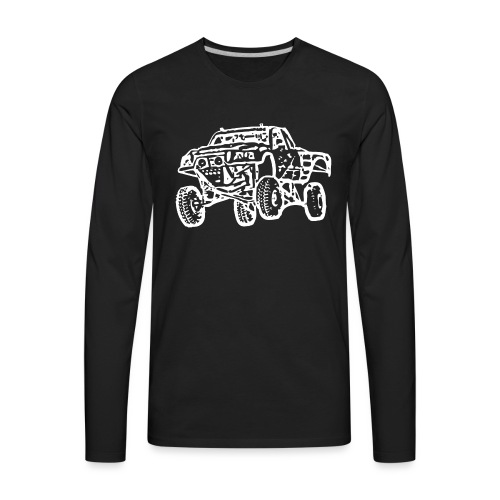 Jump Truck White - Men's Premium Long Sleeve T-Shirt