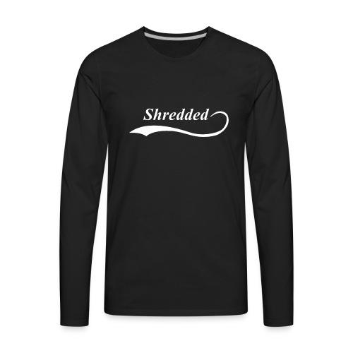 Mens Shredded Crewneck Sweatshirt - Men's Premium Long Sleeve T-Shirt