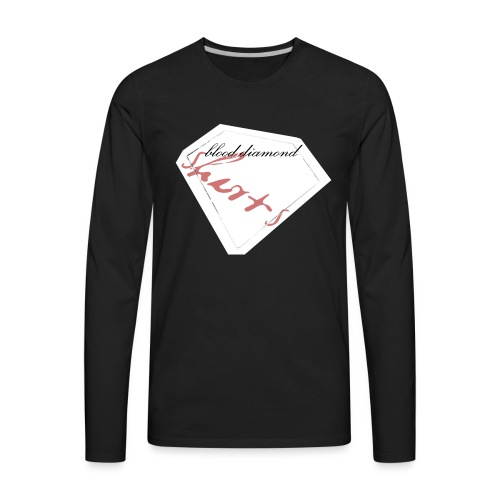 Blood Diamond -white logo - Men's Premium Long Sleeve T-Shirt