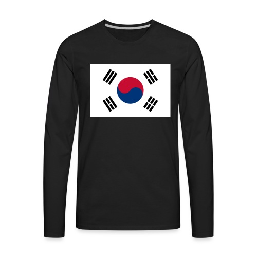 Flag of South Korea - Men's Premium Long Sleeve T-Shirt