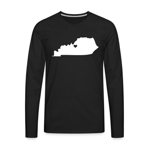 Kentucky Silhouette Heart - Men's Premium Long Sleeve T-Shirt