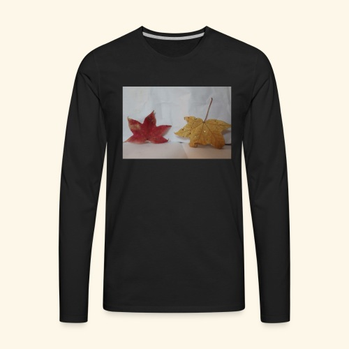 Leaves falling - Men's Premium Long Sleeve T-Shirt