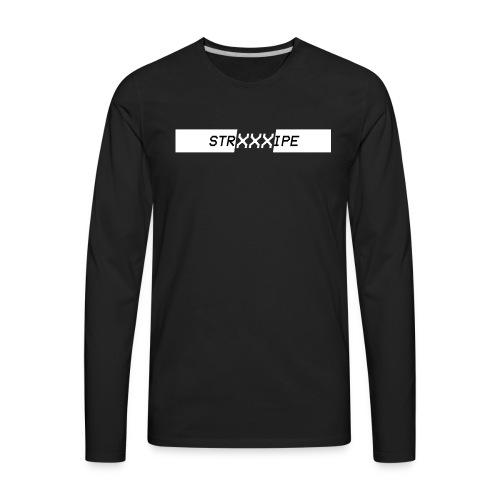 Stripe - XXX Logo T-shirts and Hoodies. (WHT) - Men's Premium Long Sleeve T-Shirt