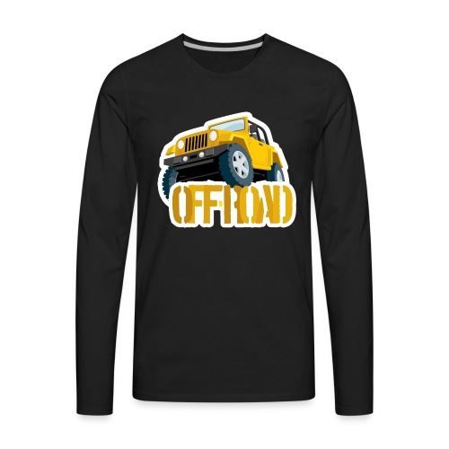Yellow 4X4 off-road Jeep - Men's Premium Long Sleeve T-Shirt