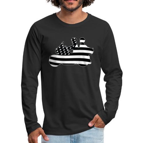 Patriotic American Flag Touring Motorcycle - Men's Premium Long Sleeve T-Shirt