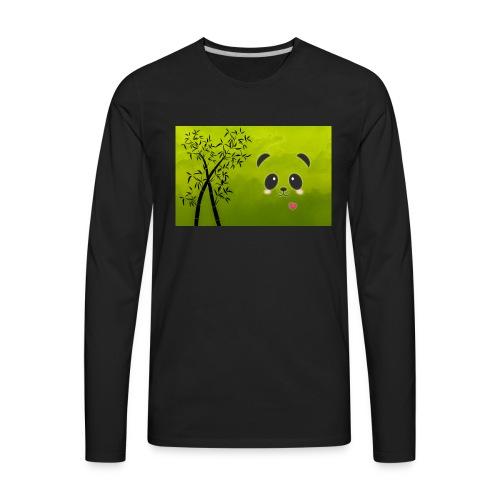 panda cuteness - Men's Premium Long Sleeve T-Shirt