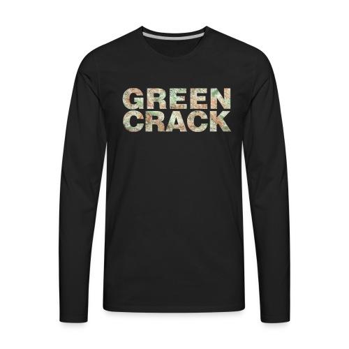 GREEN CRACK.png - Men's Premium Long Sleeve T-Shirt