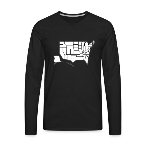 Straight Map - Men's Premium Long Sleeve T-Shirt