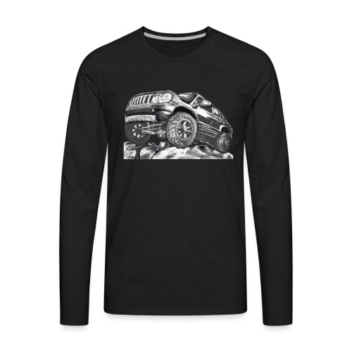 4 wheel SUV - Men's Premium Long Sleeve T-Shirt