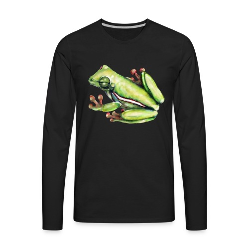 Winking frog - Men's Premium Long Sleeve T-Shirt