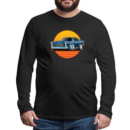 Classic Sixtes Big American Muscle Car - Men's Premium Long Sleeve T-Shirt