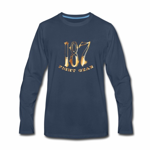 187 Fight Gear Gold Logo Sports Gear - Men's Premium Long Sleeve T-Shirt