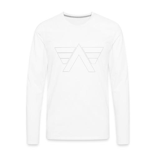 Bordeaux Sweater White AeRo Logo - Men's Premium Long Sleeve T-Shirt