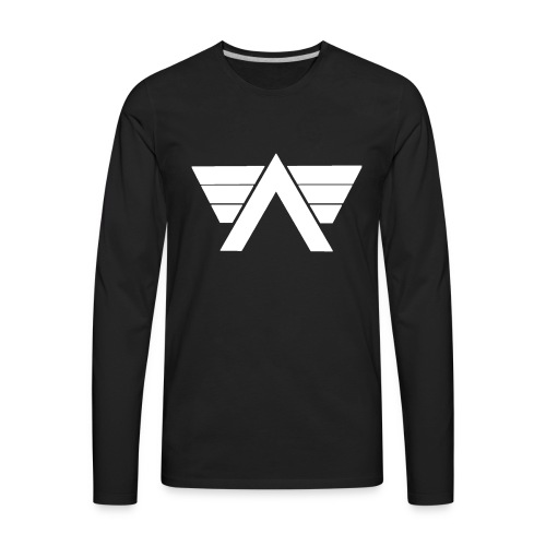 Bordeaux Sweater White AeRo Logo - Men's Premium Long Sleeve T-Shirt